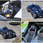 3D printed parts in the Caresto Arkham Car , Gumball 3000